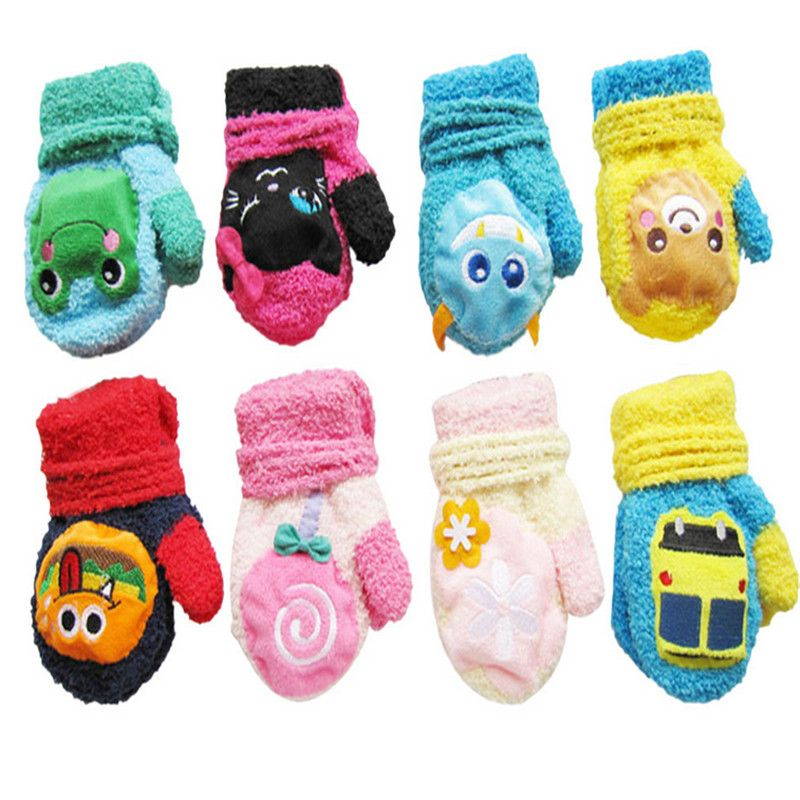 2efe2a24f Amazing Cute Thicken Warm Wool Cartoon Children Infant Baby Girls ...