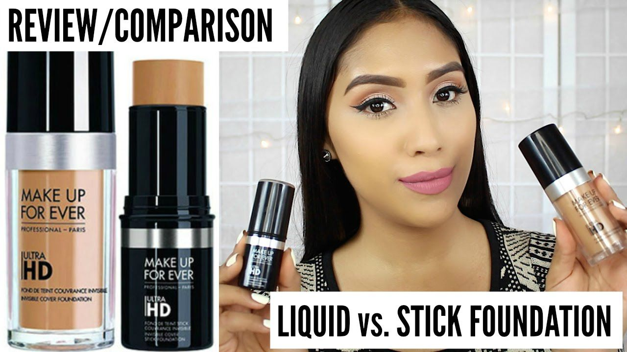Up Forever Ultra HD Foundation vs