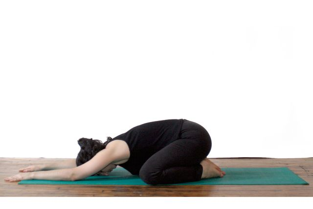 The Child S Pose For Resting In Yoga Essential Yoga Poses Morning Yoga Morning Yoga Poses