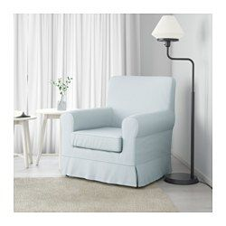 IKEA - JENNYLUND, Chair, Nordvalla light blue, , A range of coordinated covers makes it easy for you to give your furniture a new look.The cover is easy to keep clean as it is removable.