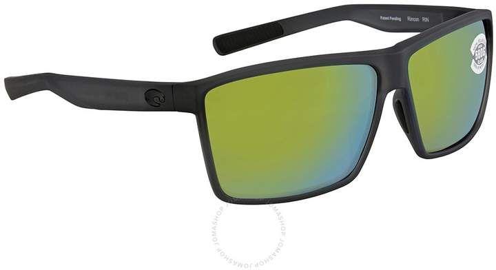 474f2e216e1c4 Costa del Mar Rincon Green Mirror Rectangular Sunglasses RIN 156 OGMGLP