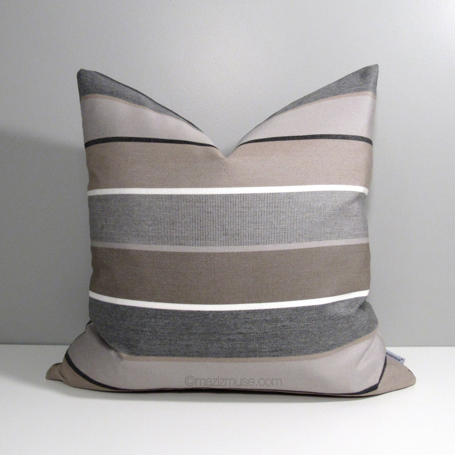 on garden pillow product solid cushion textured gray pillows free home squared outdoor chair shipping