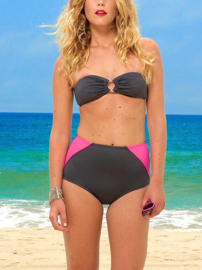 2a8d066cb8a6d Kushcush Maddie-Chloe Bikini Top Slate on shopstyle.com | Womens ...