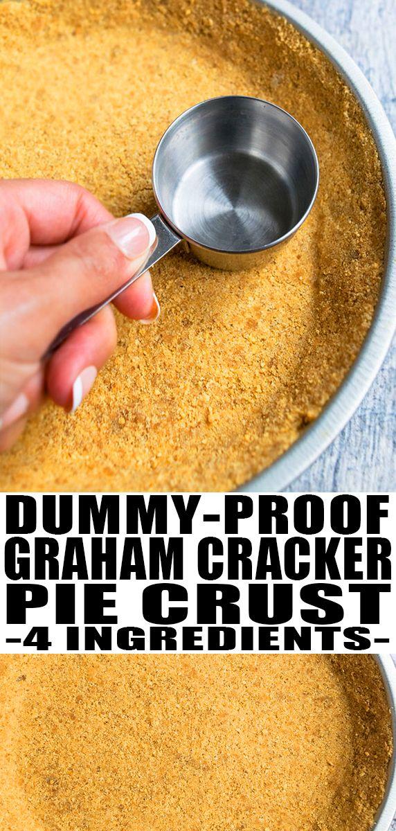 Easy Graham Cracker Crust Recipe #homemadegrahamcrackercrust