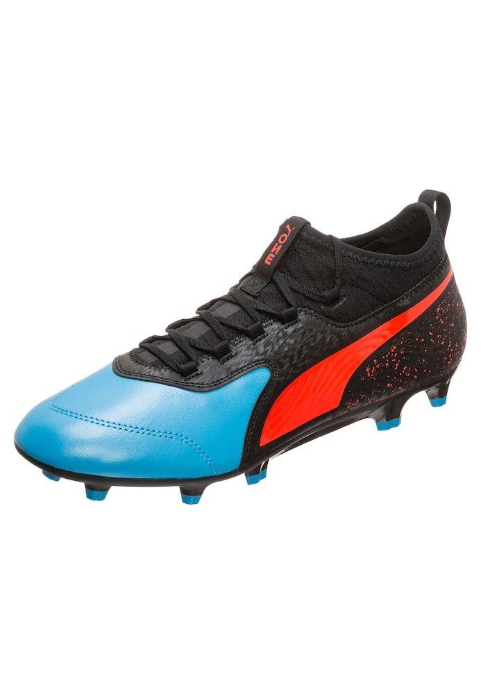PUMA Fußballschuhe 'Onew 19.3' in hellblau / rotmeliert / schwarz