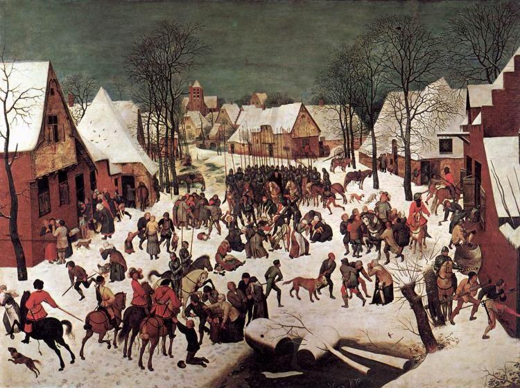 Питер Старший Брейгель -  Избиение младенцев  (1566) - Открыть в полный размер