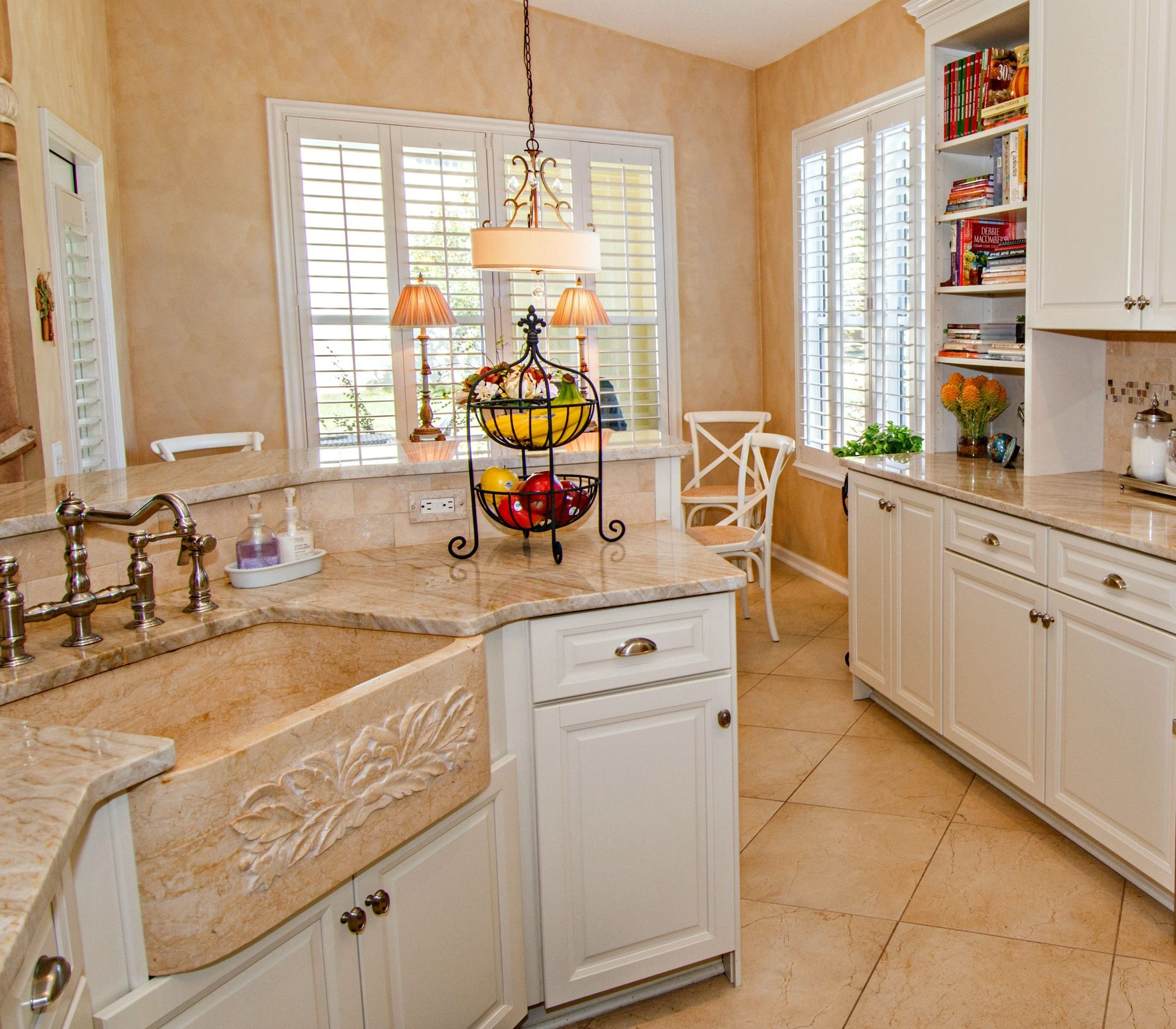 Jacksonville Fl Kitchen Renovation With Marble Farm Sink And