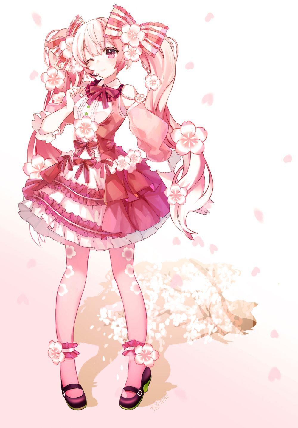 ❀」/「小九」のイラスト [pixiv] #桜ミク #初音ミク | 二次元女の子