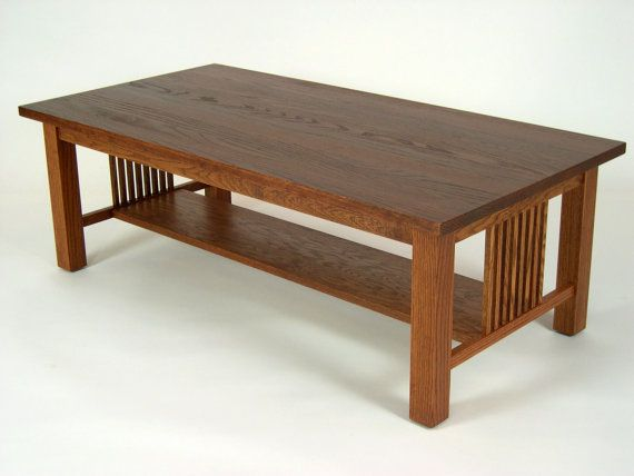 Mission Oak Arts Crafts Stickley Style Coffee Cocktail Table Mission Furniture Mission Style Furniture Furniture