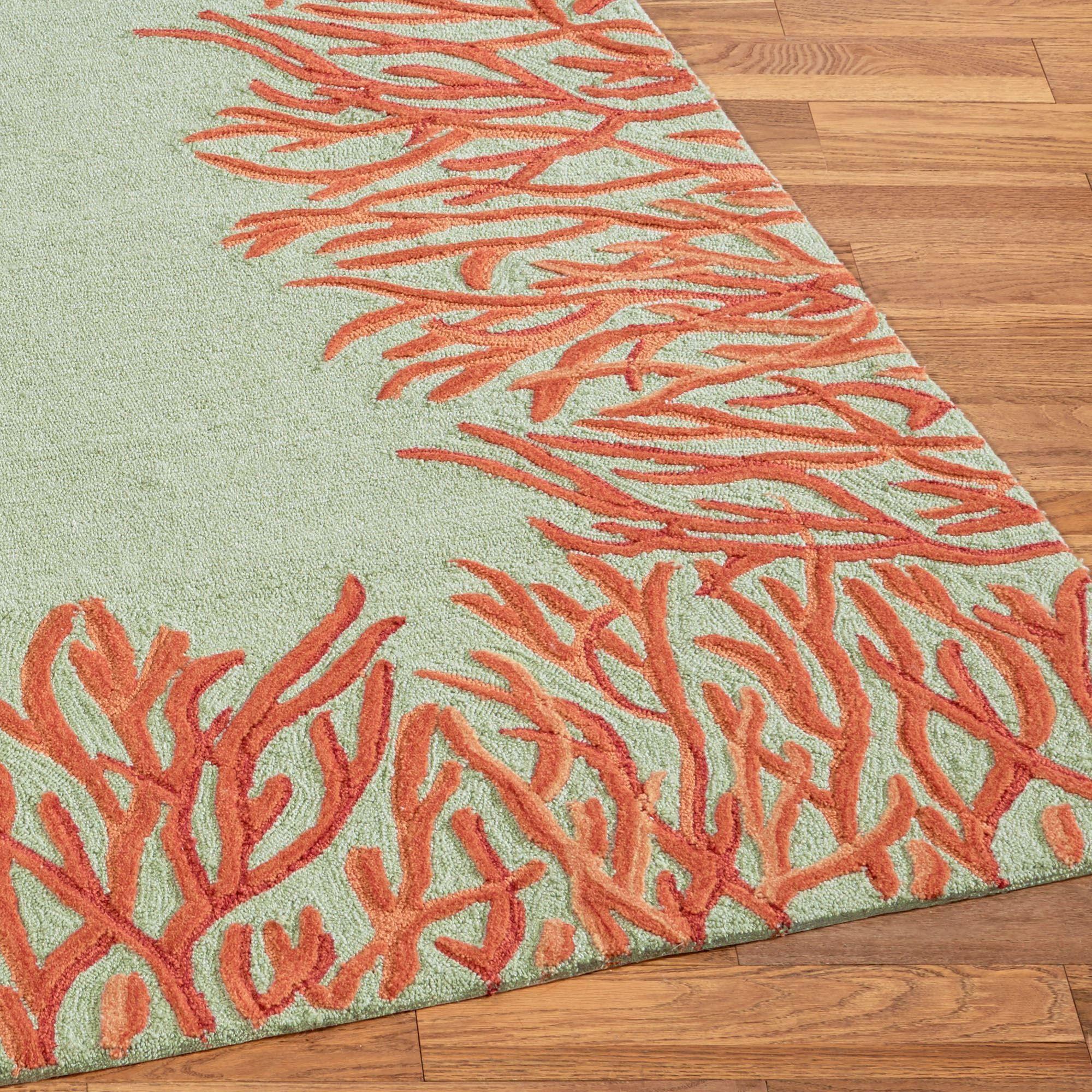 High Quality Coral Reef Rug Runner Orange 2 X 8 Home Design Ideas