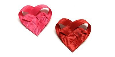 Tutorial: How to Make Woven Ribbon Hearts