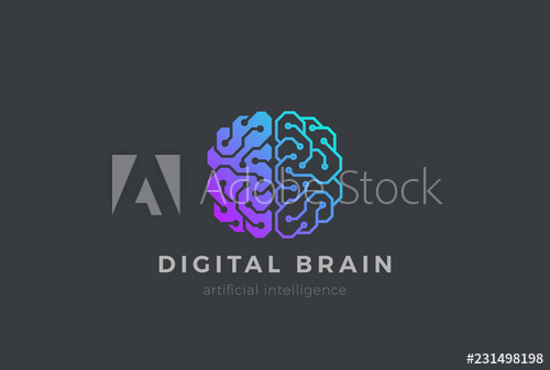 Brain Artificial Intelligence Logo Design Vector Ai Brainstorm Buy This Stock Vector And Explore Similar V Logo Design Brainstorming Artificial Intelligence
