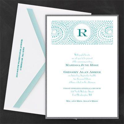 Thermo Retro Circles Layered Vintage Invitation - Vintage Wedding Invitation Ideas - Vintage Wedding Invites
