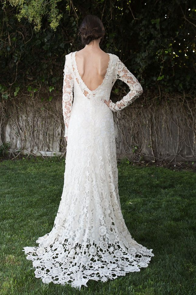 15 Wedding Dresses You Won\'t Believe Are Crocheted | Wedding dress ...