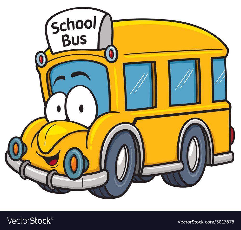 School Bus Vector Image On With Images Cartoon School Bus