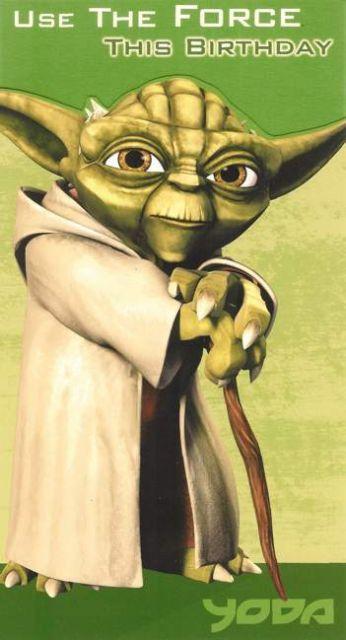 Yoda Birthday Card | FANDOM: star wars | Happy birthday me ...