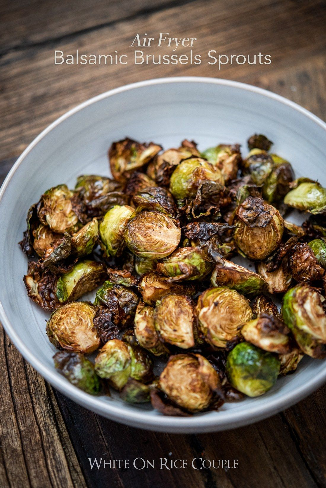 Best Crispy Air Fried Brussels Sprouts with Balsamic Vinegar in Air Fryer #airfryerrecipes