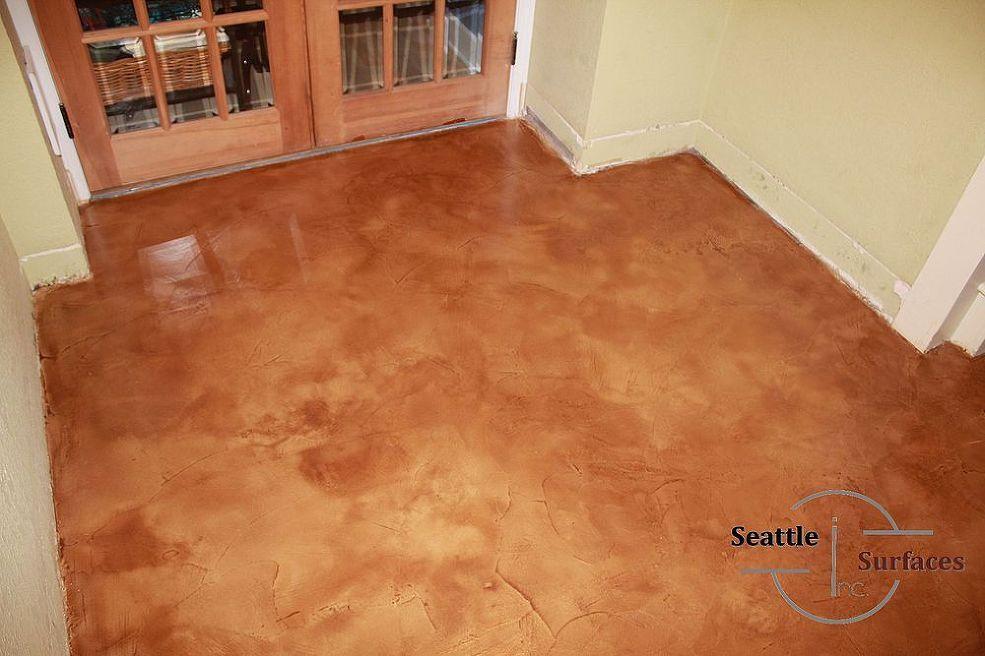 Concrete Micro Topping Basement With Moisture Problem Decorative Concrete Floors Concrete Concrete Decor