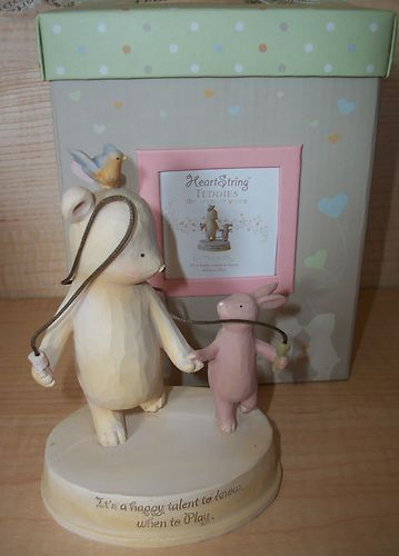 25% OFF COLLECTIBLES!! HEART STRING TEDDIES IT'S TIME TO PLAY FIGURINE SEAGULL STUDIOS NIB