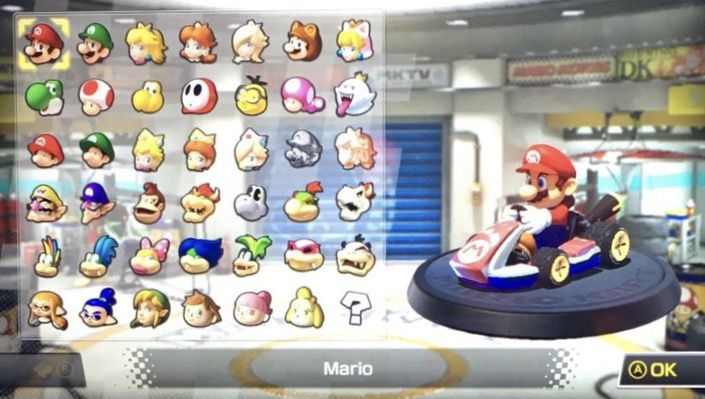 Mario Kart 8 Deluxe Character Selection Screen Mario Kart