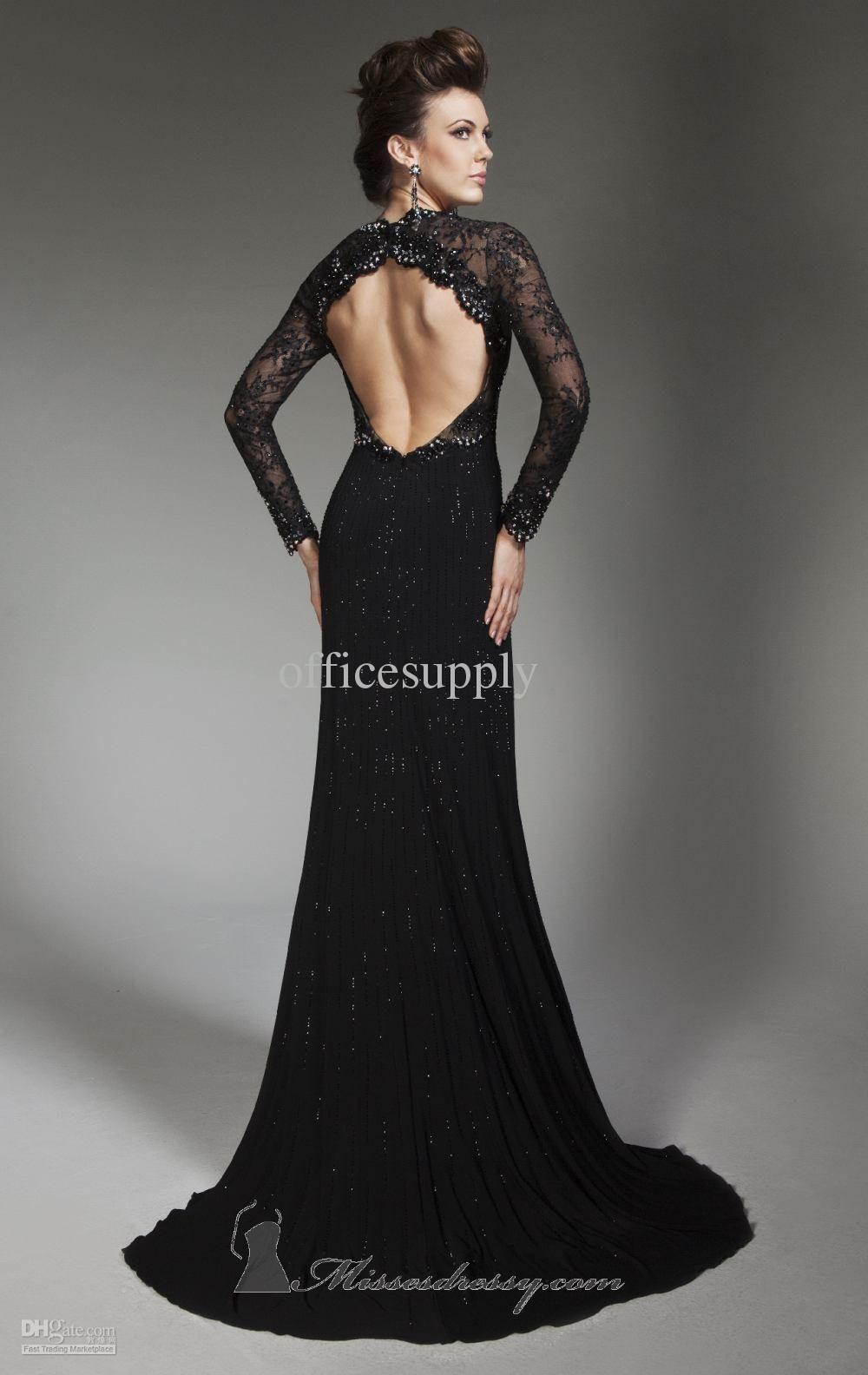 Formal Black Lace Dress Photo Album - Reikian