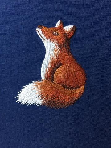 Silk Shading Fox embroidery kit back in stock!