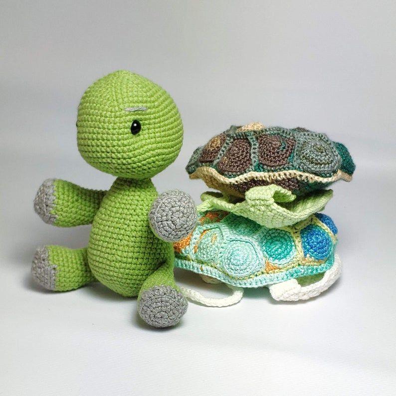 Amigurumi crochet Turtle Leia, PDF pattern