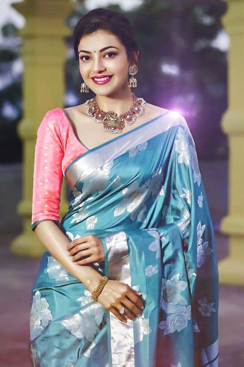 f511d175e44f22 ... silk saree and Temple Jewelry. Kajal Aggarwal