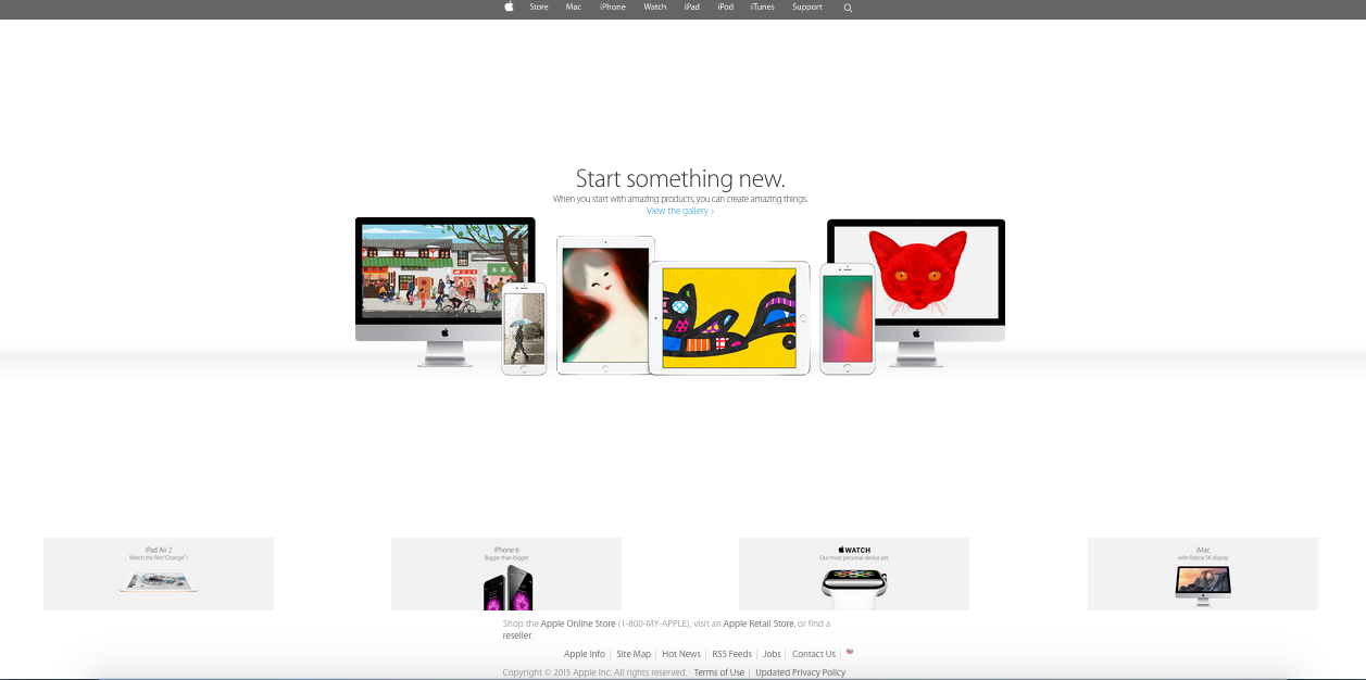Www Apple Com Apple Is Another Simple But User Friendly Web Design That Many Viewers Can Use Easily It Has Easy Navigation Info Web Design Design Positivity