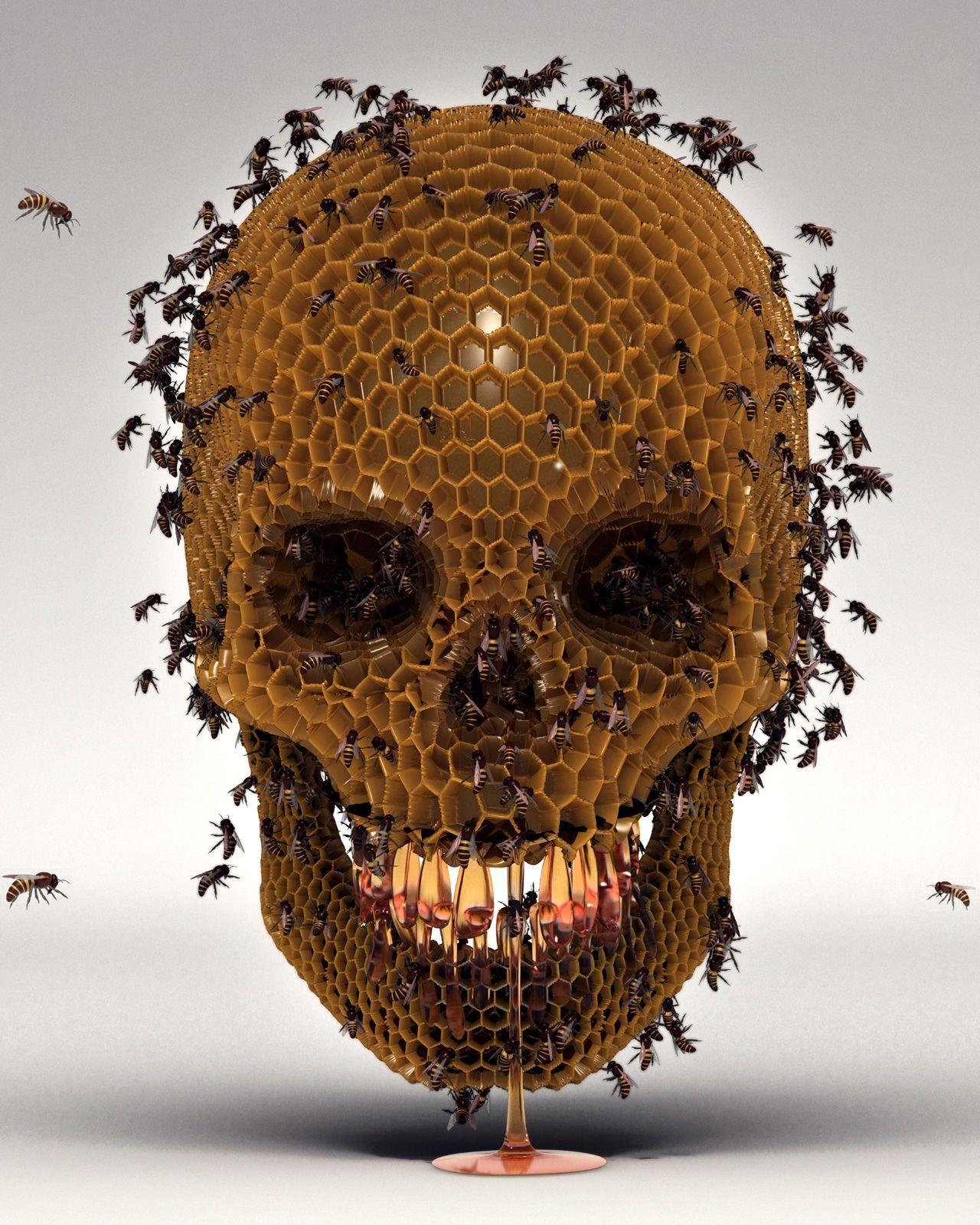 b4ab1b876f6 Luke Dwyer   Skull hive.