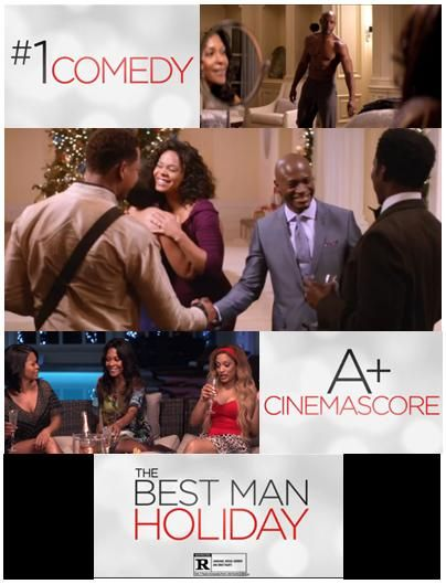 So it was announced that Malcolm D. Lee's comedy The Best Man Holiday was a huge hit rating as #1 in the box office. It is awesome to see a Black filmmaker do so well in the industry & hope that one day it'll be True Philia Productions, LLC with a #1 hit too.