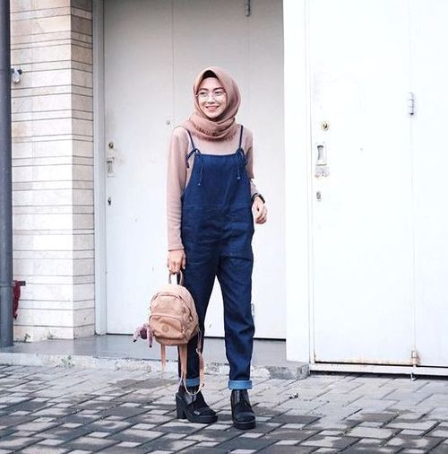 How To Wear Jumpsuits With Hijab Just Trendy Girls Hijab Style