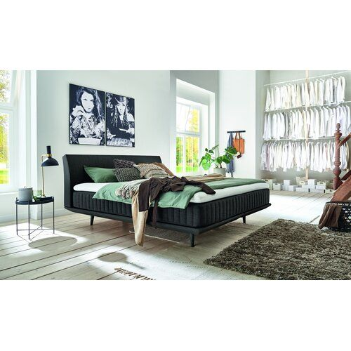 Photo of George Oliver Estonia box spring bed with Pulse natural latex topper | Wayfair.de