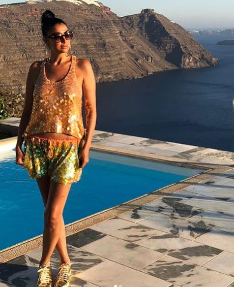 صور غادة عبد الرازق على شاطئ اليونان Fashion Women Boho Shorts