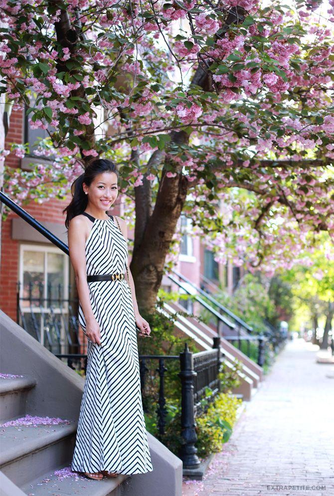 Pink petite maxi dress