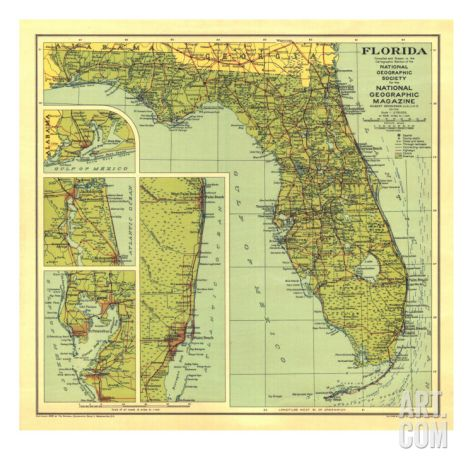 1930 Florida MapBy National Geographic Maps