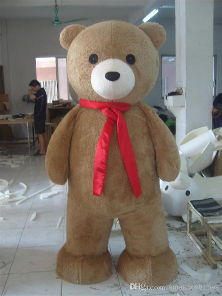 With One Mini Fan Inside The Head Top Teddy Bear Mascot Costumes For