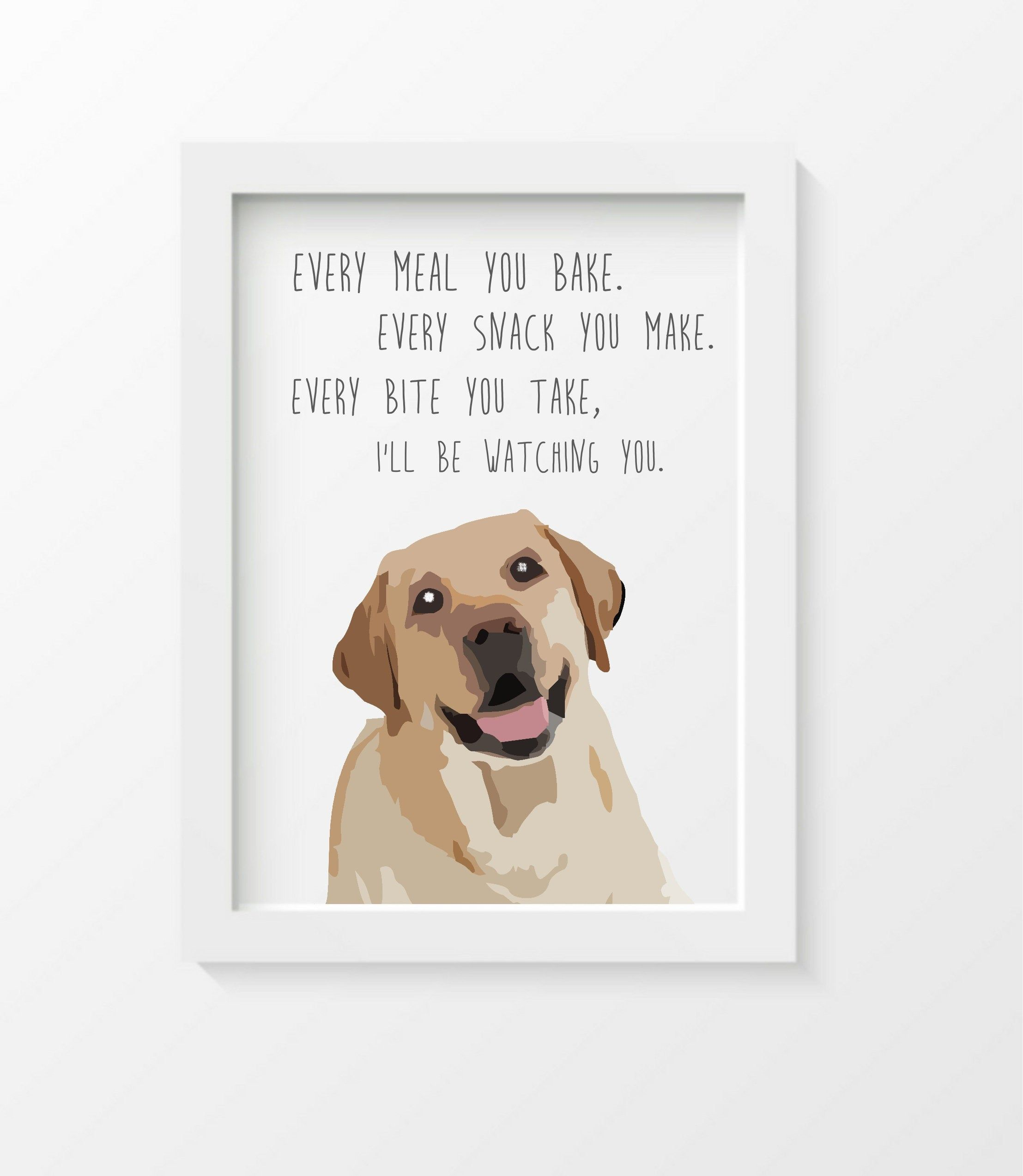 Yellow Labrador Retriever dog gifts art ...