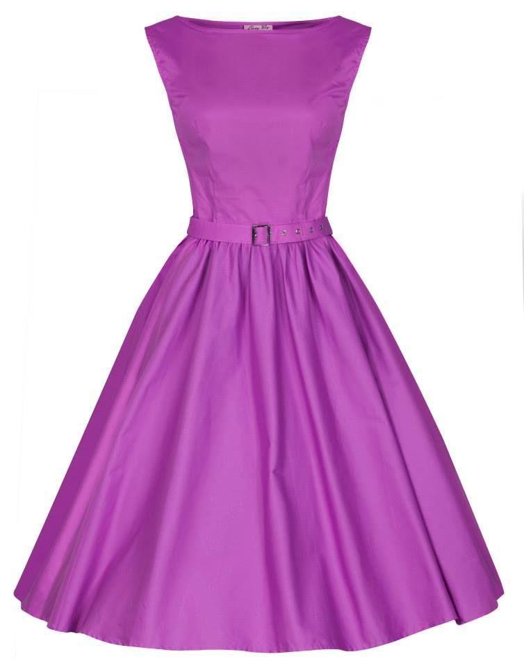 Little Wings Factory - Lindy Bop Orchid 'Audrey Dress, £30.00 (http://www.littlewingsfactory.com/lindy-bop-orchid-audrey-dress/)