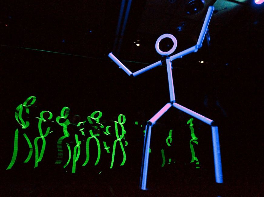 Glow In The Dark Outfits Very Effective Pep Rally Rally Idea Pep Rally Games