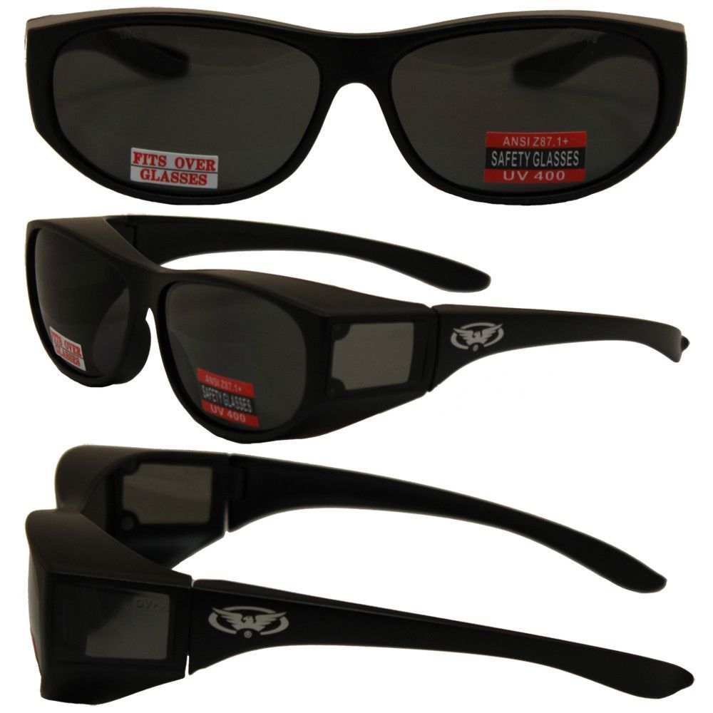 Safety Fit Over Glasses with Black Frame and Smoke Lenses