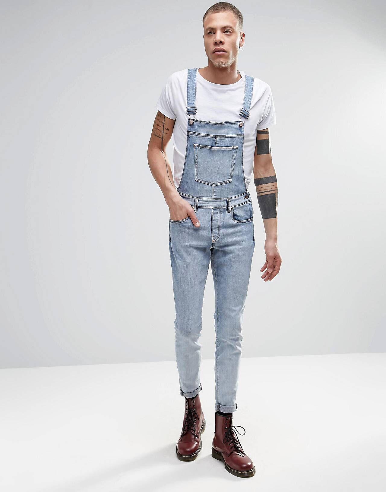 b1918e5e6fc Dr Denim - Ira - Salopette skinny en jean clair délavé - Pierre ...