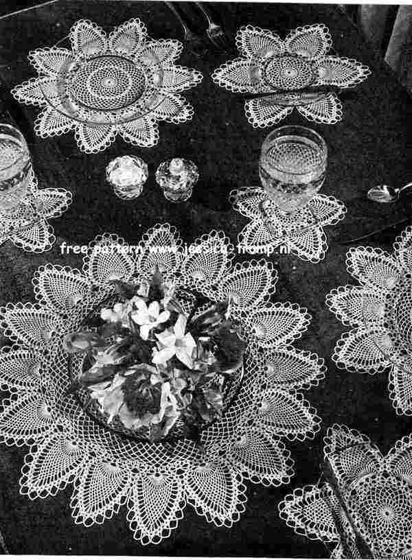 Luncheon Sets Doily ~ free pattern | vintage crochet doilies | Pinterest