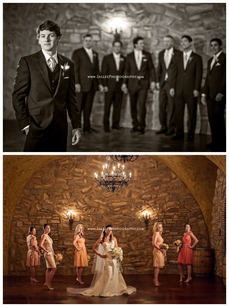 Love these images of each of the couple with their party!  Sallee Photography