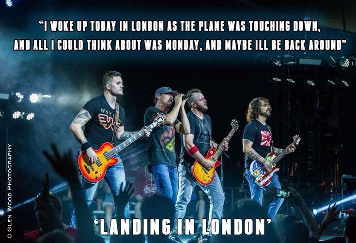 3 doors down- landing in London