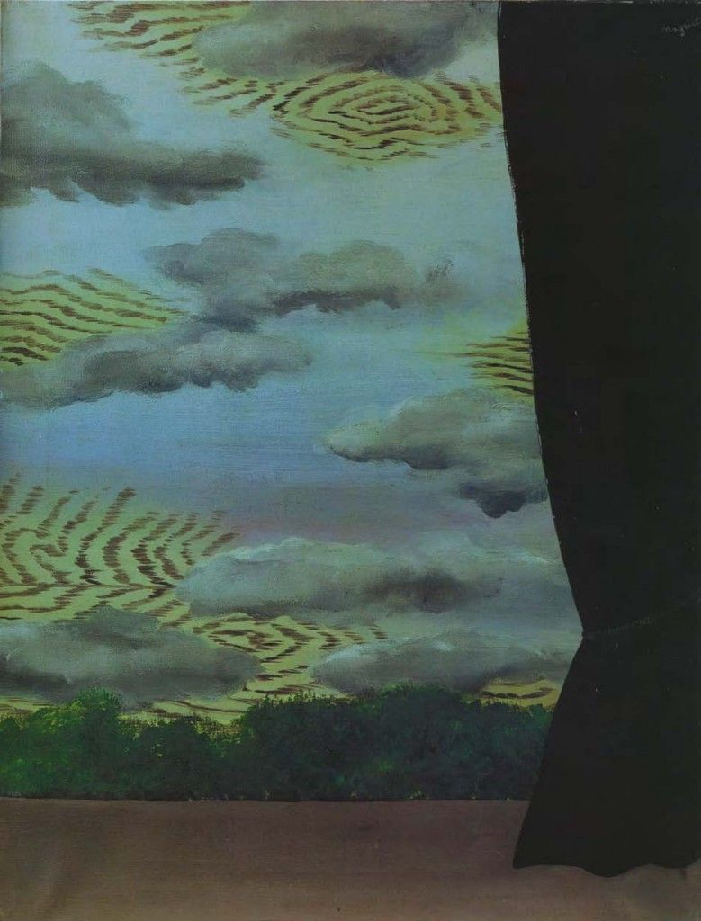 René Magritte, The Harvest of the Clouds, 1927. More Pins Like This At FOSTERGINGER @ Pinterest