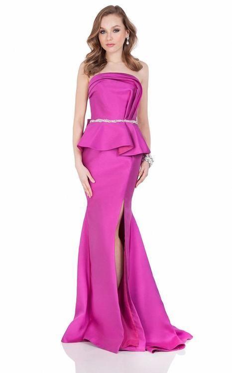 Terani Couture Sparkling Waist Peplum Evening Gown 1621E1475