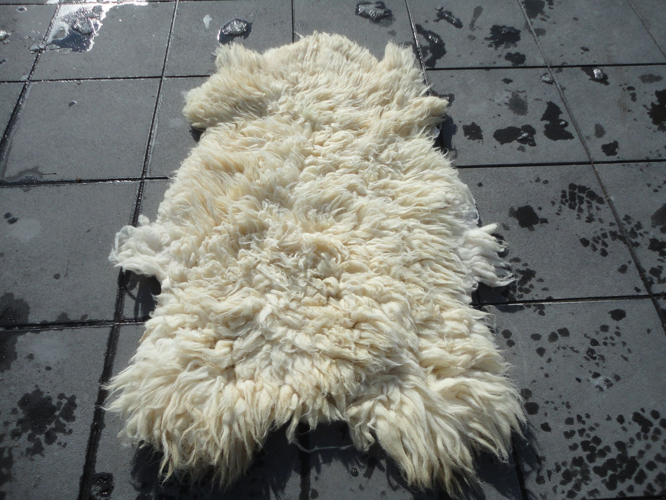 Sheep Skin Animal Hide, Soft Armchair Cover