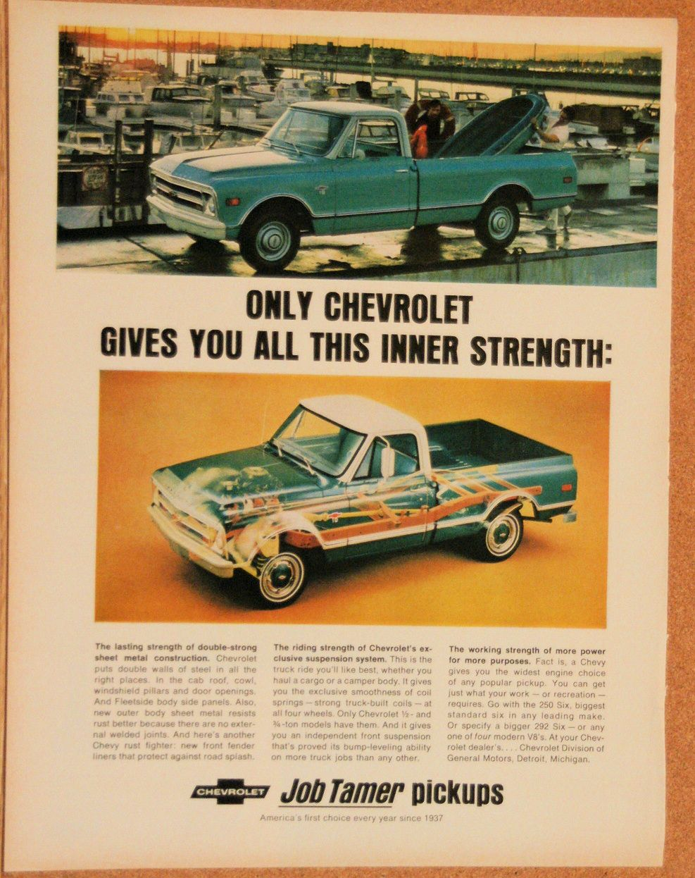 1969 Chevy Pickup Chevrolet Car Ads Classic Chevrolet