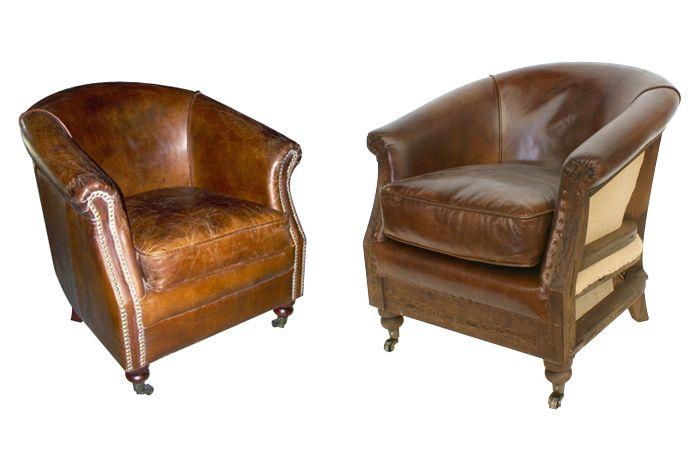 Imagen de los sillones vintage en piel de FS muebles (Francisco ...